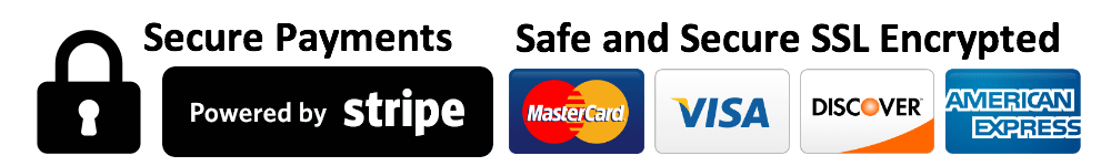 We accept credit and debit cards via Stripe